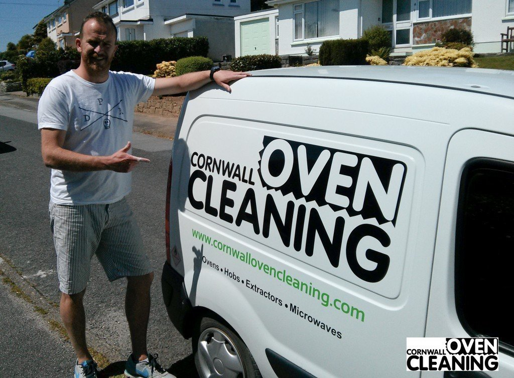 Kernow King with Cornwall Oven Cleaning Van