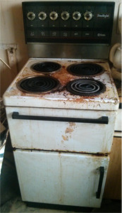 dirty cookers before cleaning in Carbis Bay